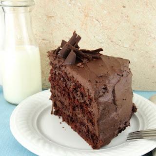 Gluten-free Devil's Food Cake with Mocha Buttercream