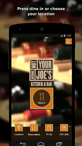 Not Your Average Joe's app