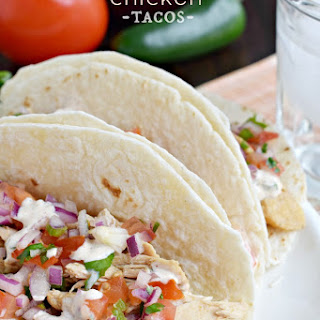 Tequila Chicken Tacos.