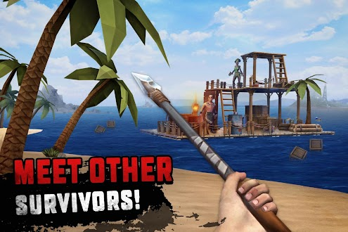 Survival on Raft: Ocean Nomad – Simulator Mod Apk [Unlimited Money / Free Crafting] 1.54 for Android