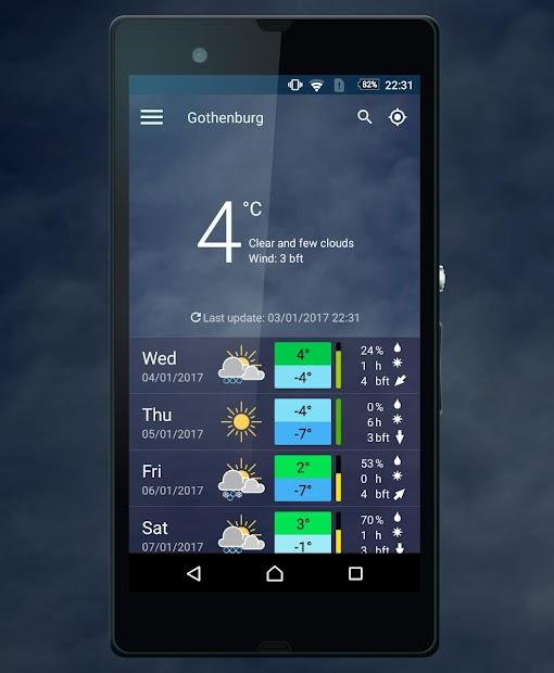 meteoblue Android App Screenshot