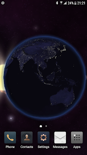 Solar system live wallpaper - náhled
