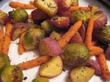Roasted Maple Glazed Potato/carrot/brussel Sprouts