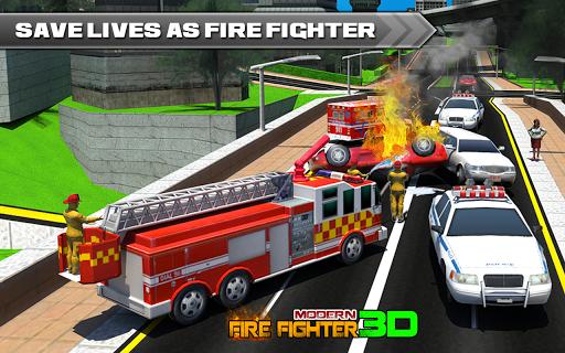 現代の消防士:市消防