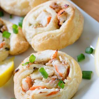 Crab Puff Pastry Pinwheels.