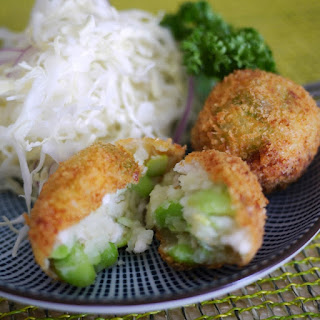Fried Mashed Potato (Korokke) with Edamame