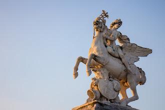 Photo: Mercure monté sur Pegase  Statue by Charles Antoine Coisevox Place de la Concorde - Jardins des Tuileries, Paris, Franc
