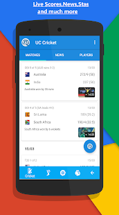 UC Cricket - Live Cricket Scores, News & Videos - Apps on