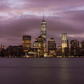 Downtown Manhattan by Dominick Bianco - City,  Street & Park  Skylines ( cityscapes skylines,  )