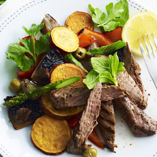 Lamb with Roasted Vegetables.