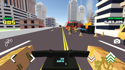 Blocky Moto Racing 🏁 - pilote moto APK MOD (Astuce) screenshots 2