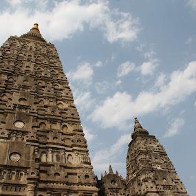 Mahabodhi temple by Leelamohan Anantharaju - Buildings & Architecture Places of Worship ( gaya, budhist shrines, mahabodhi, budhist places of worship, bodh gaya )