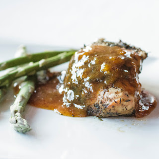New Orleans Rubbed Chicken with Apricot-Mustard Sauce.