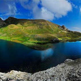 Bolkar mountains/Karagöl lake by Mustafa Tor - Landscapes Mountains & Hills ( mountains, blue sky, trekking, lake, panoramic )