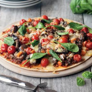 Beef, Tomato And Basil Pizza