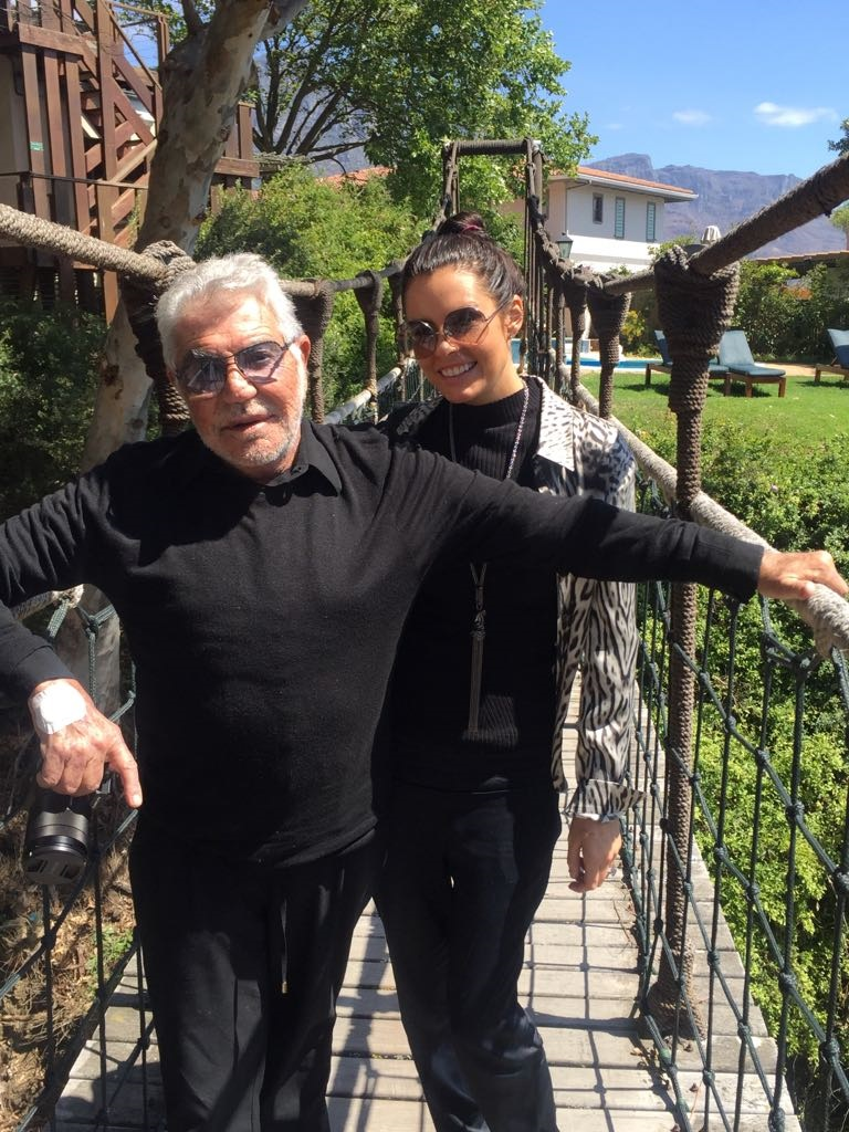 Acclaimed designer Roberto Cavalli and his partner Sandra Nilsson in SA.