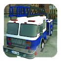 Firefighter Fire Truck Parking icon