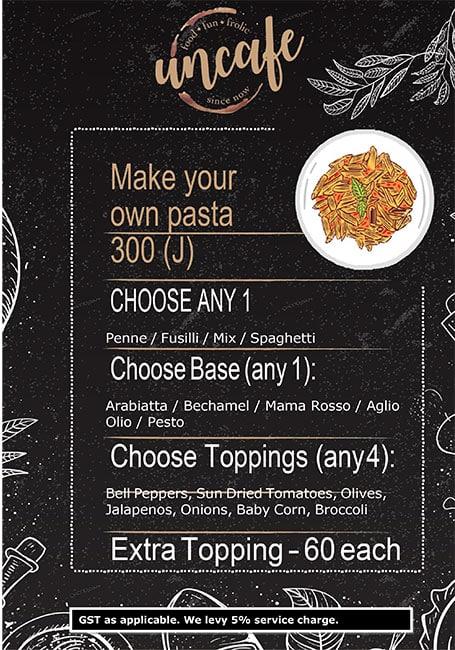 Uncafe menu 9