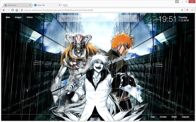 Bleach HD Wallpapers New Tab Theme