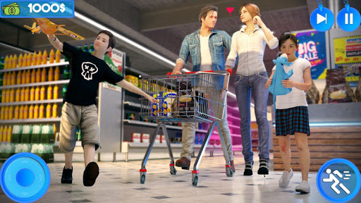 Virtual Mother Shopping Mall - Supermarket Games apktreat screenshots 1