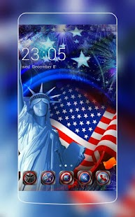 Independence Day Theme: American Flag USA Liberty - náhled