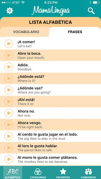 MamaLingua: Learn Spanish- screenshot
