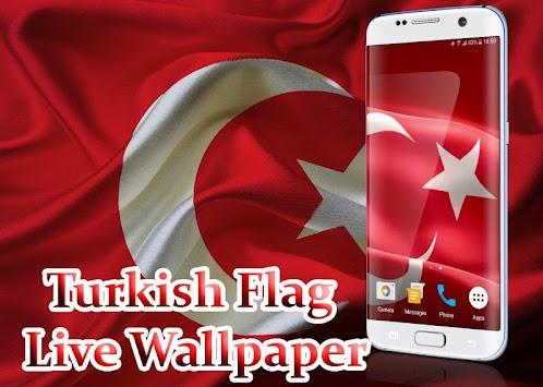 Turkish Flag Live Wallpaper Poster