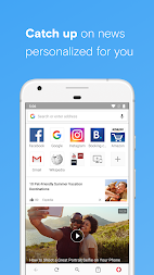 Opera with free VPN APK screenshot thumbnail 9