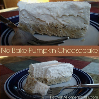Low Sugar No-Bake Pumpkin Cheesecake