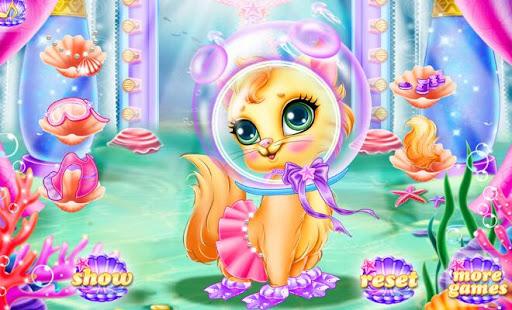 無料休闲Appのマーメイドペット猫のケア - 女の子|記事Game