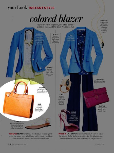 Photo: InStyle (August 2012)  Alto Large Shopper http://www.dooney.com/db/ASIFB-INSB0812 -