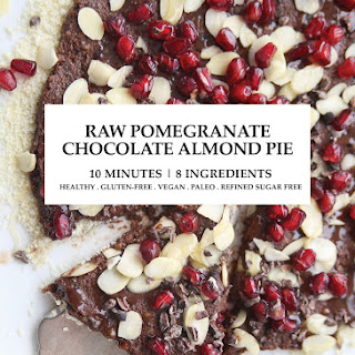 10minute Raw Pomegranate Chocolate Almond Pie