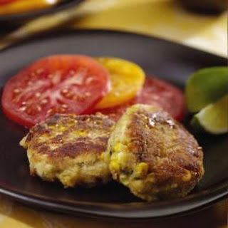 Curried Corn & Crab Cakes.