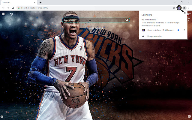 Carmelo Anthony HD Wallpapers New Tab