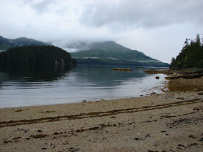 Photo: View looking southward from my campsite in Hobart Bay.