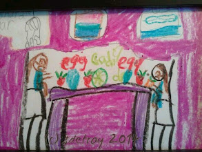 Photo: Sweet children's artwork for FarmToTable... Going up next week, I am happy to have the connection with Patricia Donohue at Edison.