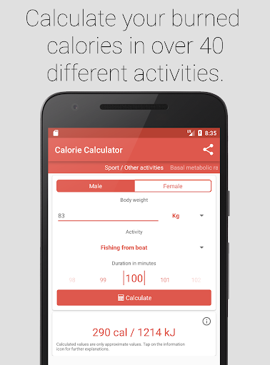 Calories burned weight lifting & bodyweight exercise calculator.