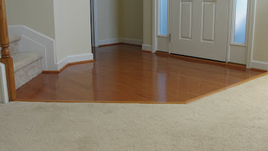 "Photo: Builder Oak Landing and ""Easy Stain"" Carpet,..."