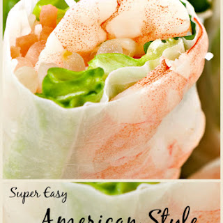 Super Easy American Style Spring Rolls