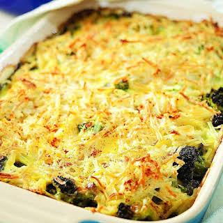 Broccoli, Beef & Potato Hotdish.