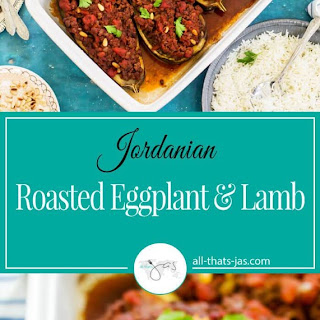 Roasted Eggplant and Lamb.