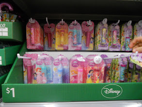 Photo: Since I have little boys and don't often get to shop for little girls, I decided to have some fun. We found Disney pricess lip gloss and for only $1.00 a great deal.