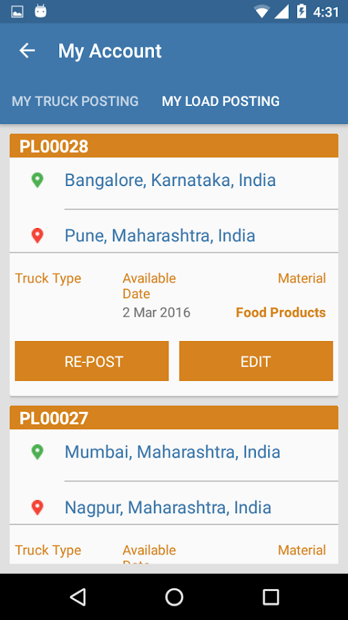 Freightbazaar Android Apps On Google Play