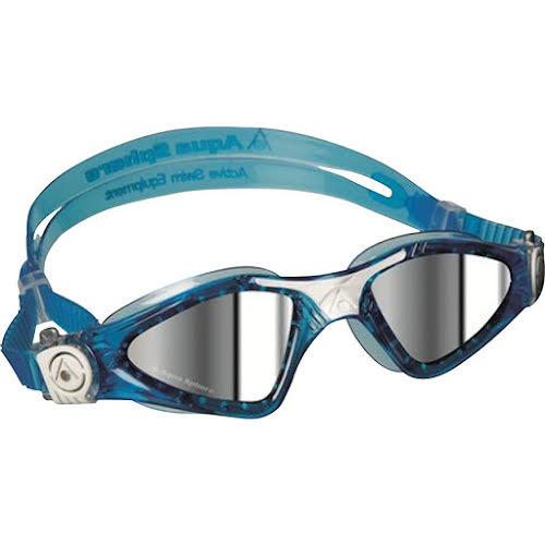 Aqua Sphere Kayenne SF Goggles: Aqua/White with Mirror Lens