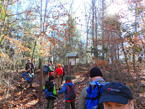 Photo: start of day hiking out Grand Gap Loop trail on 2nd day. up the hill to get on top of ridge