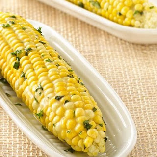 Grilled Corn on the Cob with Herb Butter