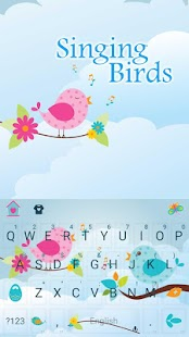 Colorful Birds Keyboard - náhled