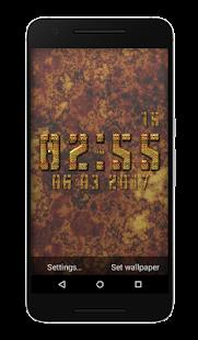 Chromatic Clock Live Wallpaper - náhled