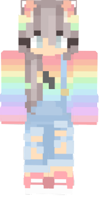 Nyan girl in pastel rainbow colors