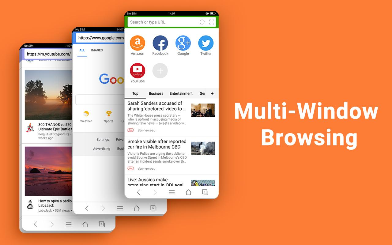 Web Browser - Fast, Private & News screenshots